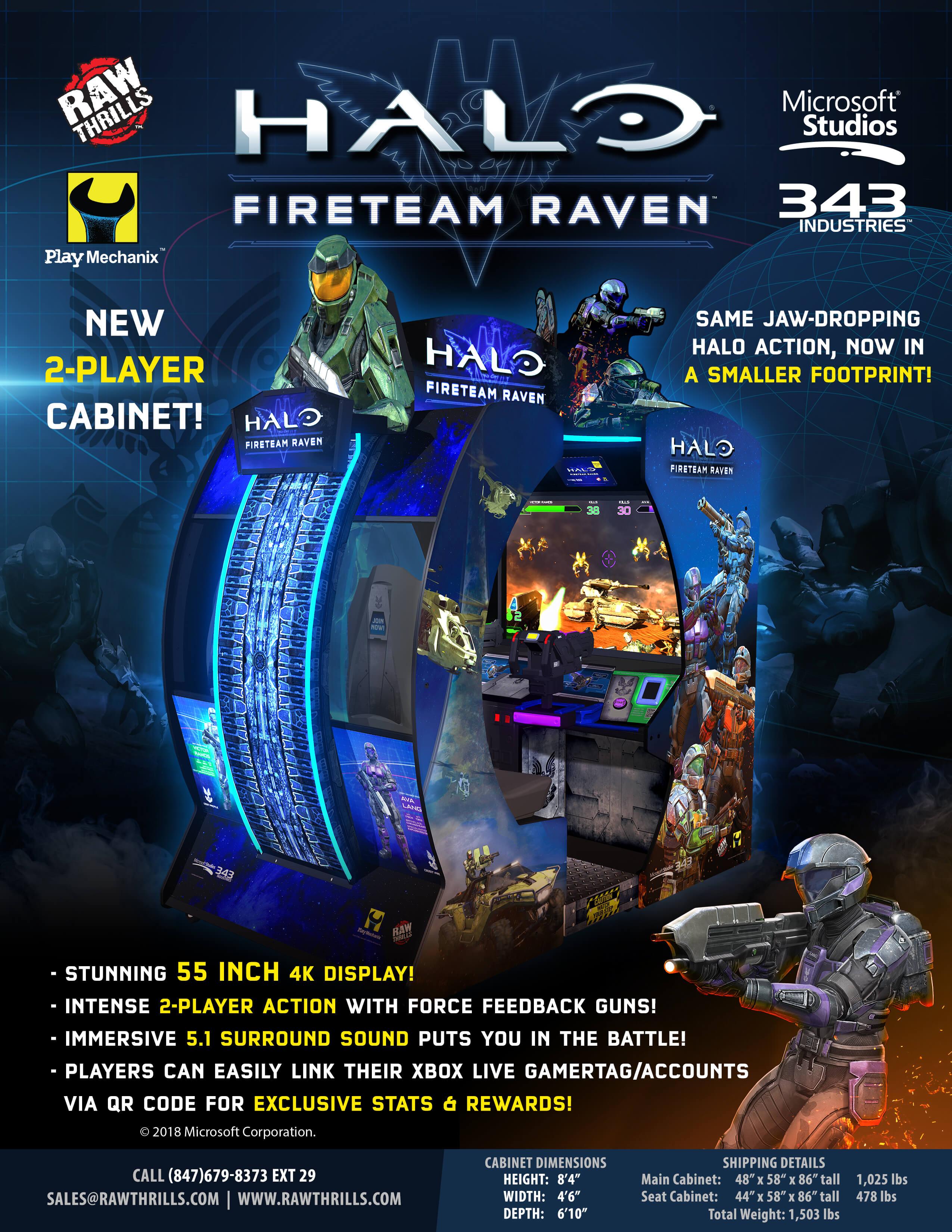 Halo: Fireteam Raven – Raw Thrills, Inc
