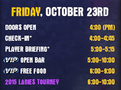 Friday - BBWC EVENT SCHEDULE