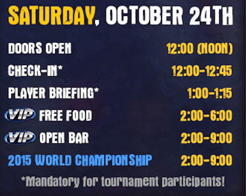 Saturday - BBWC EVENT SCHEDULE