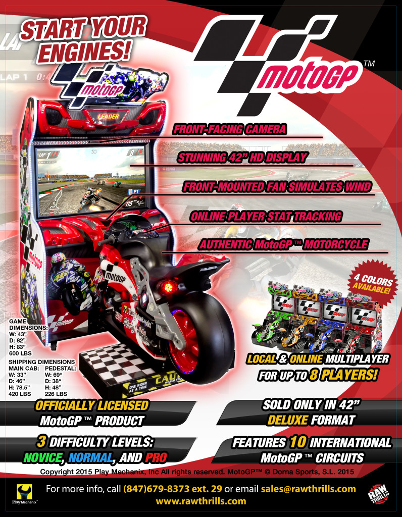 Officially Licensed MotoGP Arcade Game Debuting this Month at IAPPA!